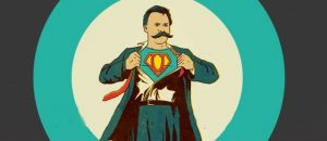 ilustração do super homem de nietzsche