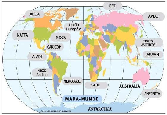 localização dos blocos econômicos