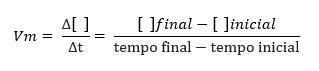reações elementares fórmula da velocidade