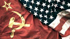 bandeira união soviética e estados unidos