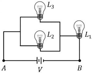 lâmpadas em circuito elétrico