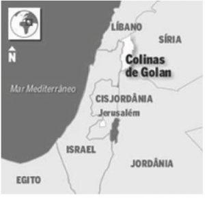 mapa das colinas de golan