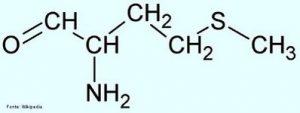 fórmula da metionina