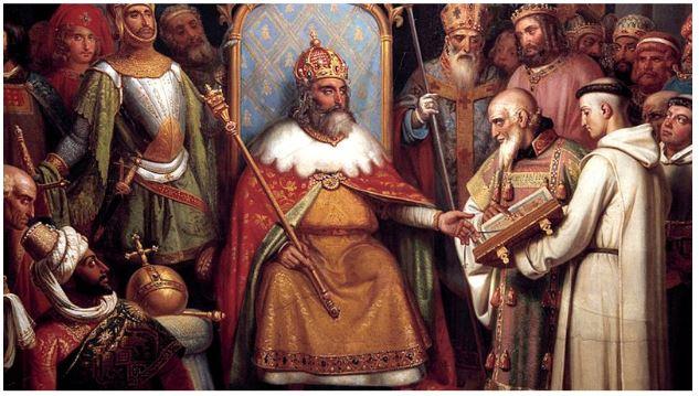 coroação de carlos magno - igreja medieval