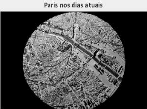 imagem de satélite de Paris nos dias atuais