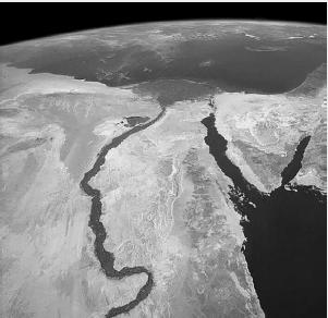 imagem de satélite que mostra um rio