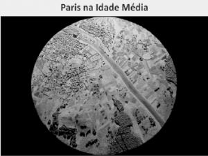 imagem de satélite de Paris na Idade Média