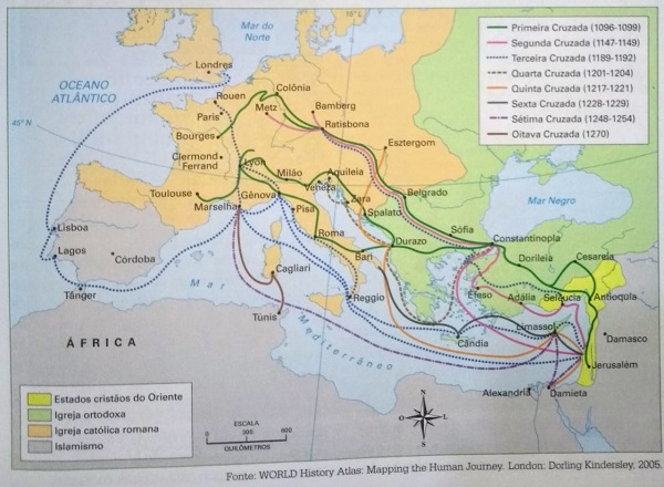 mapa das cruzadas