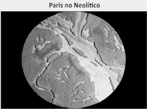 imagem de satélite de Paris no período Neolítico