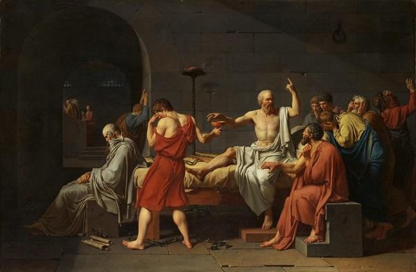 pintura - julgamento de sócrates