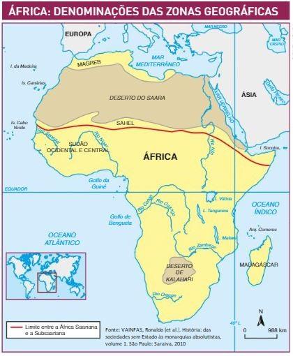 regiões da áfrica
