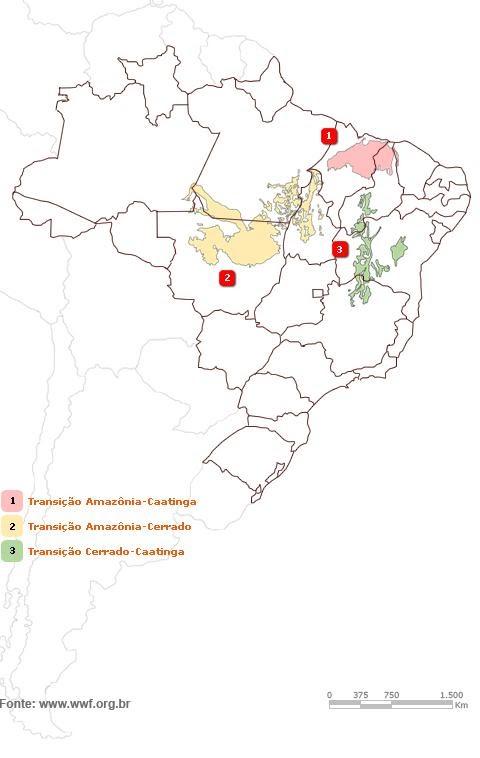 figura 2 - zonas de transição dos biomas brasileiros
