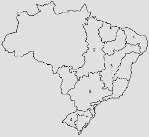 mapa para resolução de exercício sobre bacias hidrográficas brasileiras