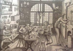 oficina de ourives ilustração