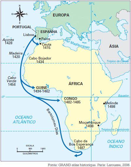 portugueses na costa africana - grandes navegações